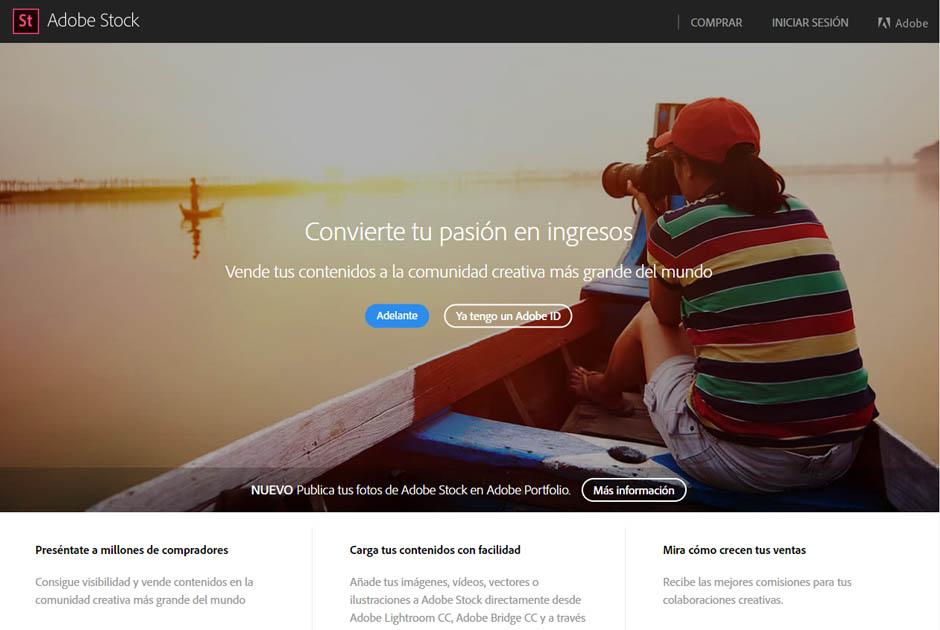 Adobe Stock para fotógrafo online